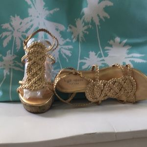 Kate Spade Cork sole wedges